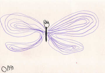 Children`s drawing butterfly №42789