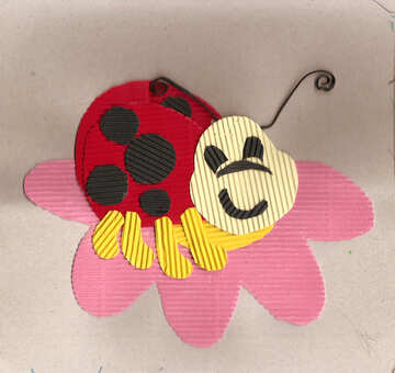 Children`s drawing ladybug №42805