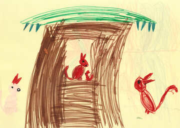 Children`s drawing squirrel №42823
