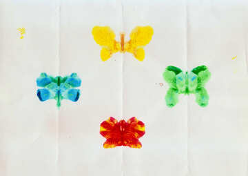 Children`s drawing butterfly №42842