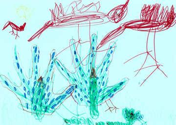 Children`s drawing birds №42824