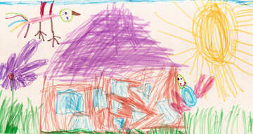 Child`s drawing house №42806