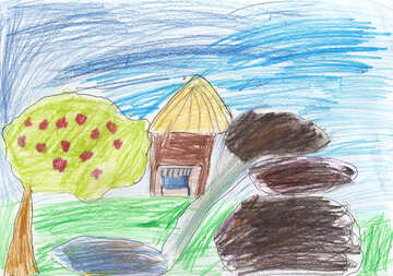 Child`s drawing house №42890