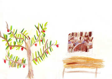 Kindzeichnung Baum №42678