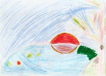 Kindzeichnung Meer №42723