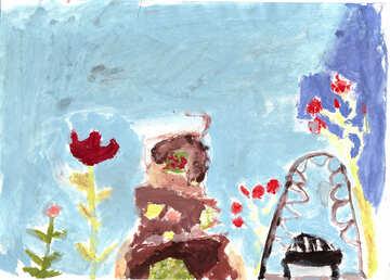 Child drawing sea №42724