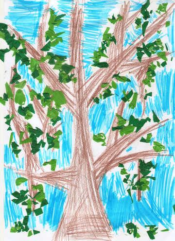 Kindzeichnung Baum №42750
