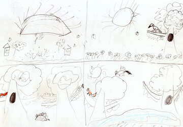 Children drawing in school №42712
