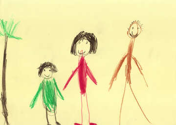 Baby drawing family №42776