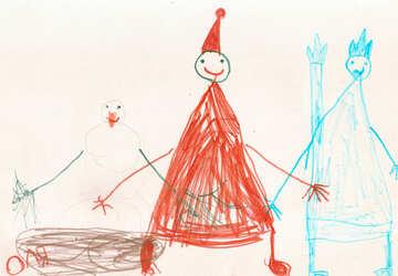 Child`s drawing of Santa Claus №42849