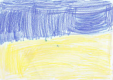 Children`s drawing the flag of Ukraine №42703