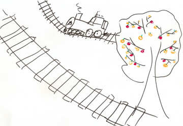 Children`s drawing a train №42706