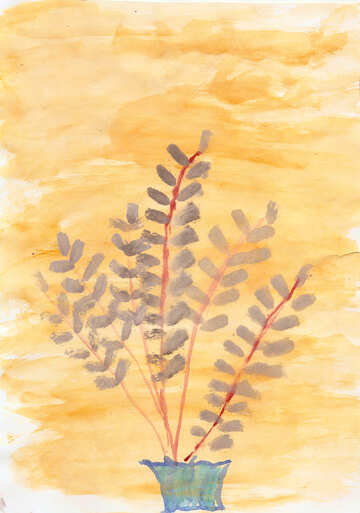 Children`s drawing plant №42715
