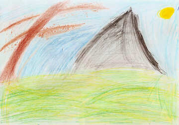 Kinderzeichnung Camping №42729