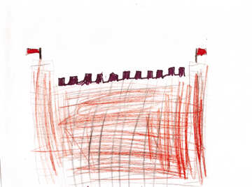 Children`s drawing fortress №42717