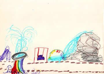 Children`s drawing children`s playground №42737