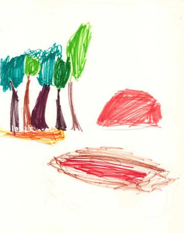 Kinderzeichnung Strand №42735