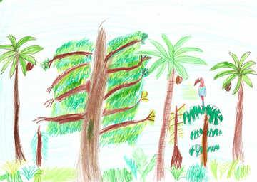 Kinderzeichnung Wald №42751