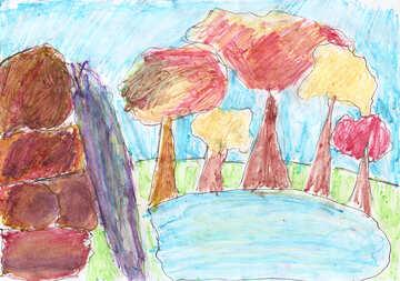 Kinderzeichnung See №42887