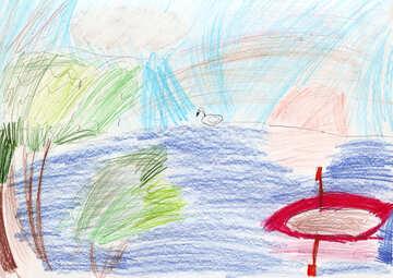 Kinderzeichnung Pond №42826