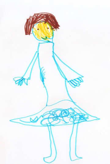 Children`s drawing ballerina №42802