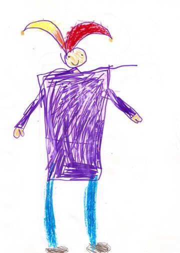Children`s drawing a clown №42775