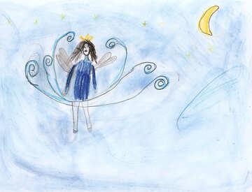 Children`s drawing fabulous fairy №42878