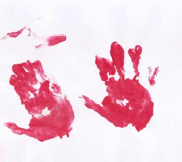Children`s drawing handprint №42819