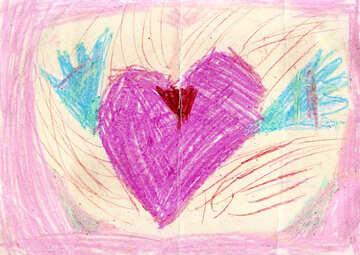 Children`s drawing heart №42834
