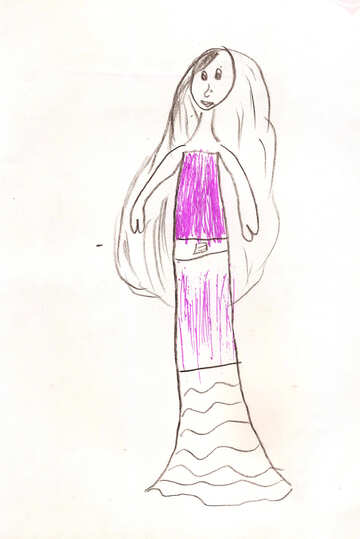 Children`s drawing a mermaid №42680