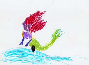 Children`s drawing a mermaid №42861