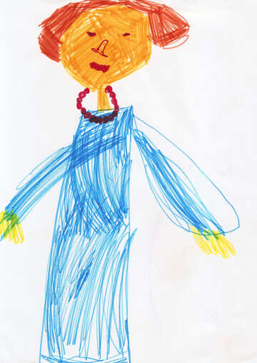 Children`s drawing mother №42844