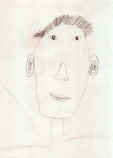 Children`s drawing a portrait of the Pope №42726