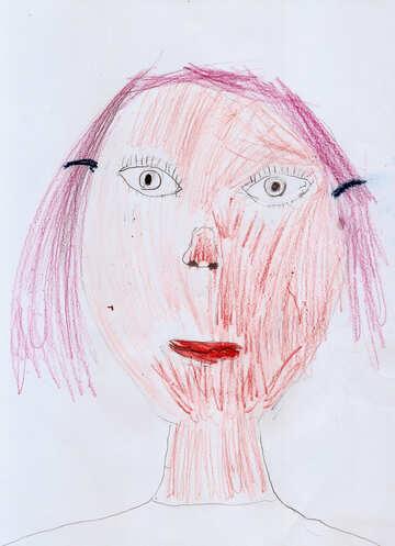 Children`s drawing a portrait №42891