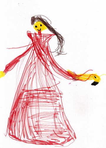 Children`s drawing Princess №42772