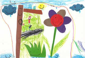 Kinderzeichnung Blumen №42810