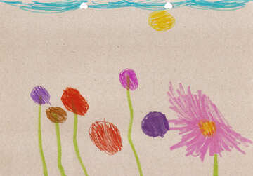 Children`s drawing flowers №42854
