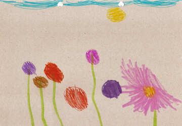 Kinderzeichnung Blumen №42854