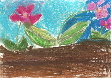 Children`s drawing flowers №42871