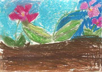 Kinderzeichnung Blumen №42871
