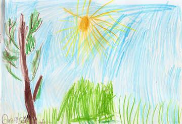Kinderzeichnung der Natur №42795
