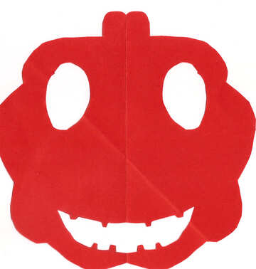 Children`s drawing Halloween pumpkin mask №42699