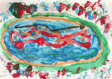 Children`s drawing pizza №42869