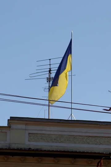 Flag of Ukraine over the house №42027