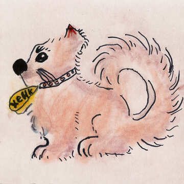 Children`s drawing dog №42873