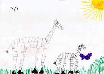 Children`s drawing zebra №42822