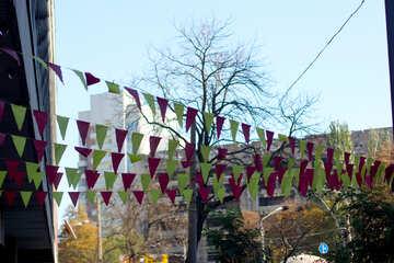 Colored flags festive decoration №42162