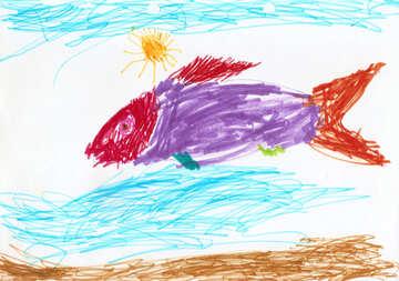 Kinder Zeichnung eines Fisches №42856