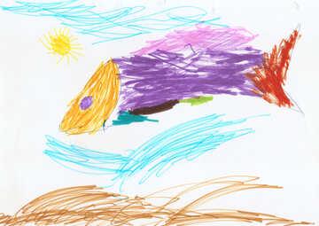 Kinderzeichnung Fisch №42857