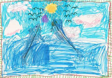 Kinderzeichnung Dolphins №42792